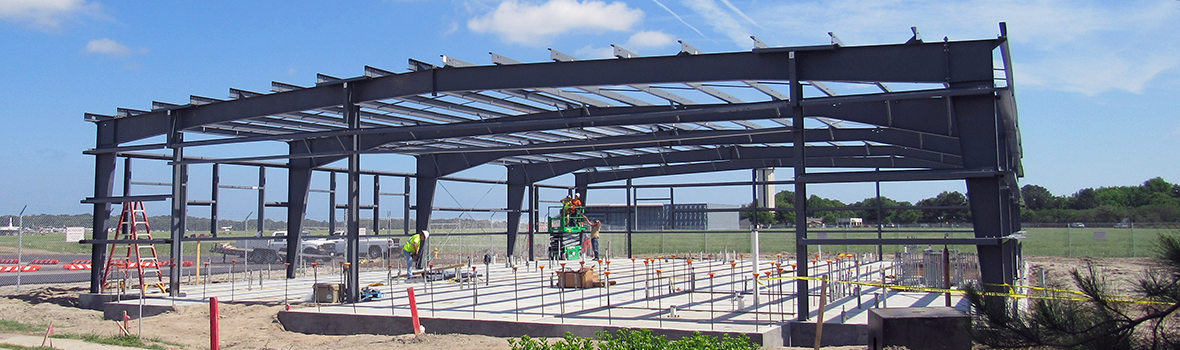Construction of Custom & Border Patrol Building at Norfolk International Airport.