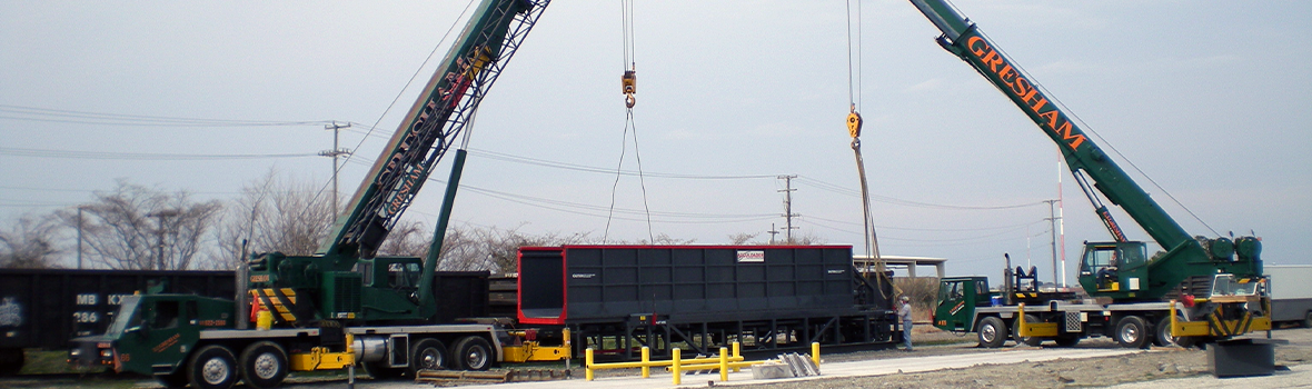 Double Lift with Our 65-Ton and 60-Ton Cranes