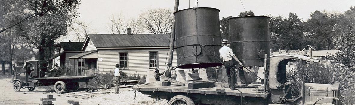 Gin Pole Setup (circa 1919)