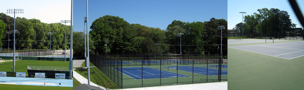 Tennis Courts Expansion at Christopher Newport University, Newport News, VA